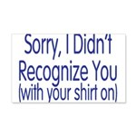 Shirt On 20x12 Wall Decal