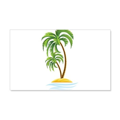 palm tree wall decal by underthesea2. Black Bedroom Furniture Sets. Home Design Ideas