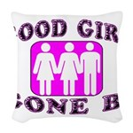 Good Girl Gone Bi Woven Throw Pillow