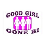 Good Girl Gone Bi 35x21 Wall Decal