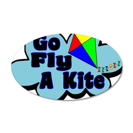 Go Fly A Kite 35x21 Oval Wall Decal