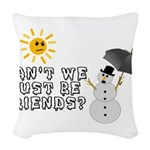 Just Be Friends Woven Throw Pillow