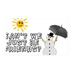 Just Be Friends 35x21 Wall Decal