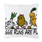 Veggie Runs Woven Throw Pillow