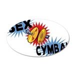 Sex Cymbal 20x12 Oval Wall Decal
