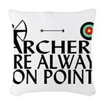 Archers On Point Woven Throw Pillow