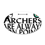 Archers On Point 35x21 Oval Wall Decal
