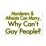 Why Can't Gay People 20x12 Wall Decal