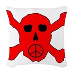 Peace Skull Woven Throw Pillow