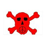 Peace Skull 35x21 Wall Decal