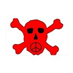 Peace Skull 35x21 Wall Decal