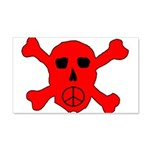 Peace Skull 20x12 Wall Decal