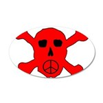 Peace Skull 35x21 Oval Wall Decal
