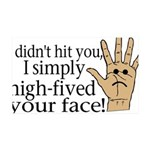 High Fived Face 35x21 Wall Decal