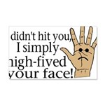 High Fived Face 20x12 Wall Decal