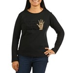 High Fived Face Women's Long Sleeve Dark T-Shirt