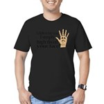 High Fived Face Men's Fitted T-Shirt (dark)