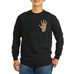 High Fived Face Long Sleeve Dark T-Shirt