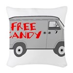 Free Candy Woven Throw Pillow