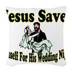 Jesus Saves Woven Throw Pillow