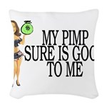 My Pimp Woven Throw Pillow