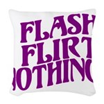 Flirty Flasher Woven Throw Pillow