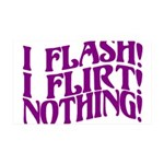 Flirty Flasher 35x21 Wall Decal