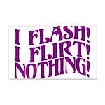 Flirty Flasher 20x12 Wall Decal