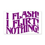 Flirty Flasher 20x12 Wall Decal