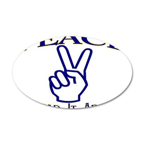 Peace 35x21 Oval Wall Decal