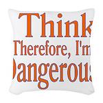 I Think! Woven Throw Pillow
