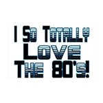 Love The 80's 35x21 Wall Decal