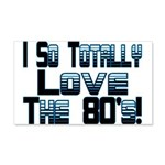Love The 80's 20x12 Wall Decal