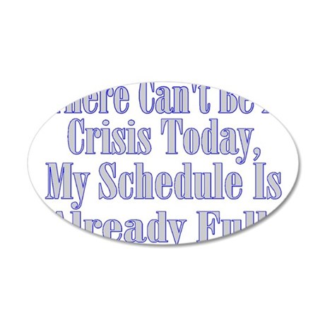 Full Schedule 20x12 Oval Wall Decal