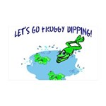 Froggy Dipping 35x21 Wall Decal