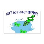 Froggy Dipping 20x12 Wall Decal