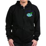 Froggy Dipping Zip Hoodie (dark)
