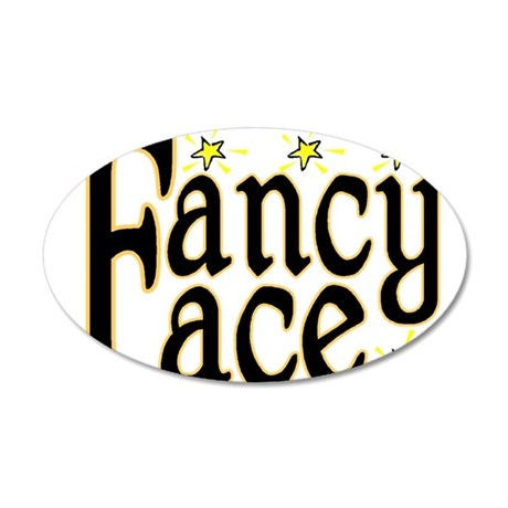 Fancy Face 35x21 Oval Wall Decal