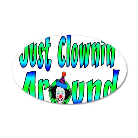 Clownin Around 20x12 Oval Wall Decal
