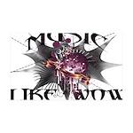 Music Like Wow 35x21 Wall Decal