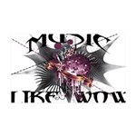 Music Like Wow 35x21 Wall Decal