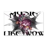 Music Like Wow 20x12 Wall Decal