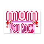 Mom You Rock 20x12 Wall Decal