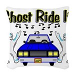 Ghost Ride It Woven Throw Pillow