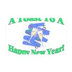 New Year's Toast 35x21 Wall Decal