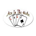 Ace Hole.png 20x12 Oval Wall Decal