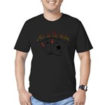 Ace Hole.png Men's Fitted T-Shirt (dark)