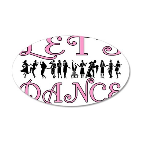 Let's Dance 35x21 Oval Wall Decal