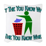 You Know Where Woven Throw Pillow