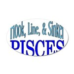 Pisces 35x21 Oval Wall Decal